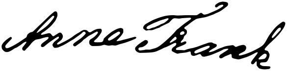 Anne Frank - Assinatura