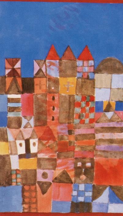Paul Klee representou a casa de uma amiga com formas planas e geométricas.
