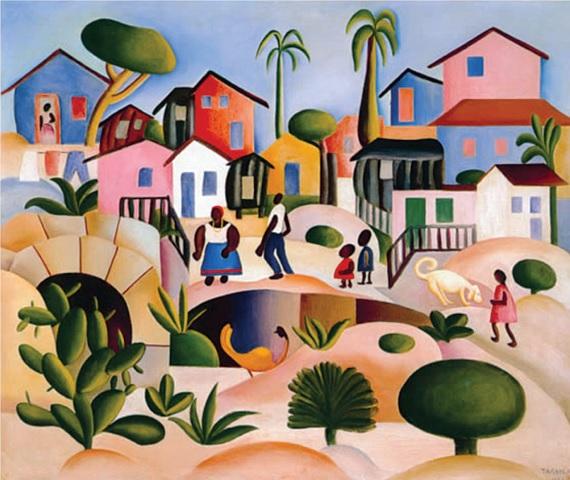 AMARAL , Tarsila do. Morro da Favela. 1924.