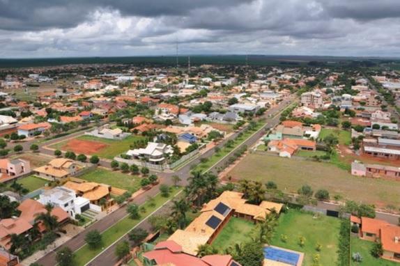 Vista aérea de Chapadão do Sul (MS)