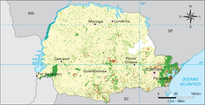 Paraná – cobertura vegetal remanescente