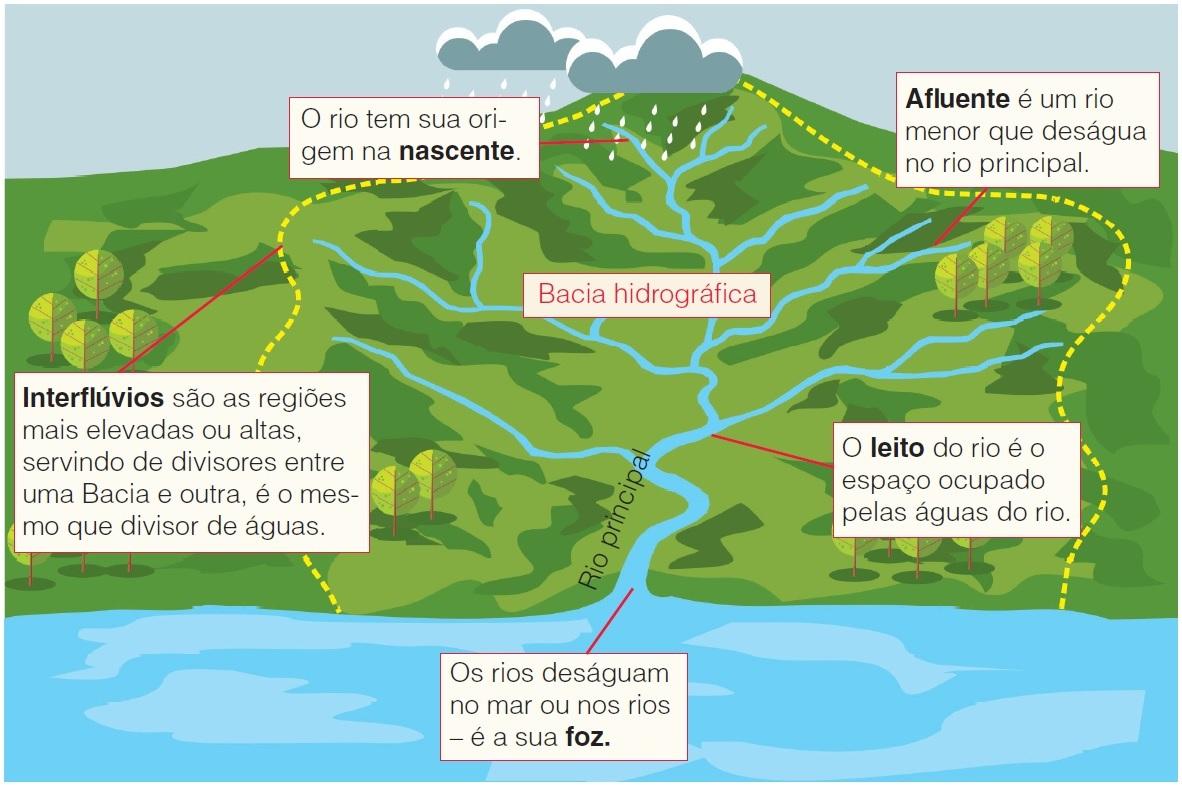 Representação de uma bacia hidrográfica