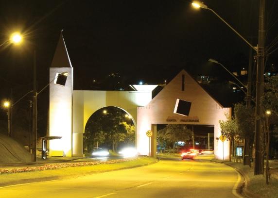 Portal do bairro de Santa Felicidade. Curitiba (PR).