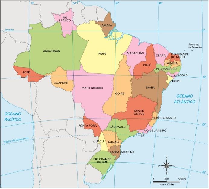 A divisão estadual após a Proclamação da República