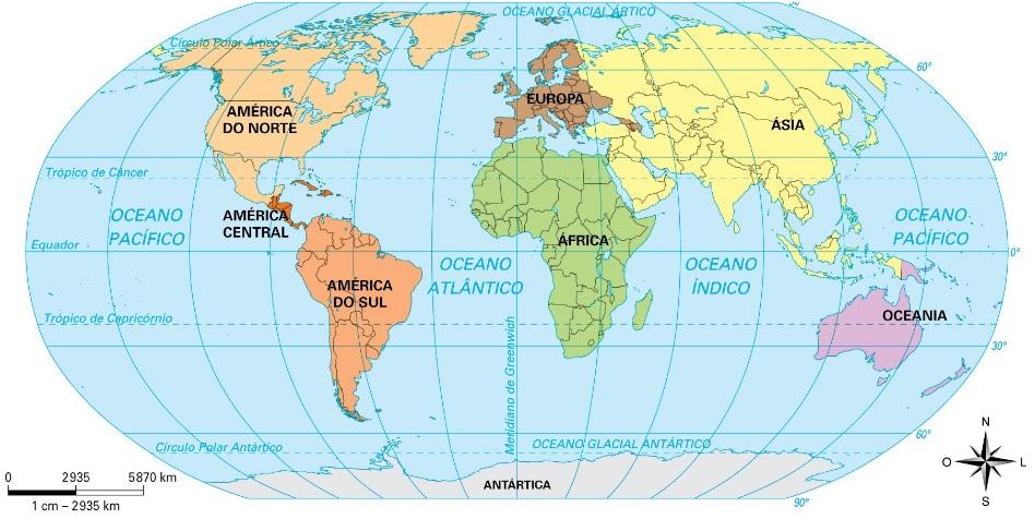 Mapa-múndi - Mapa Geografico Político