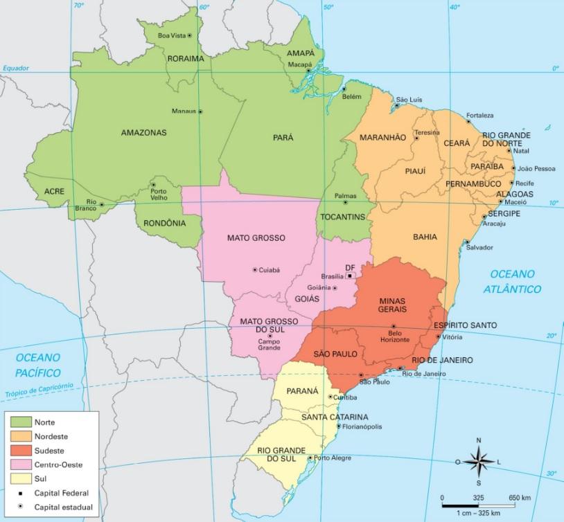 A organização do espaço geográfico brasileiro