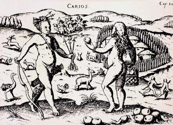 SCHMIDEL, Ulrich. Os Carios. 1559. Gravura.