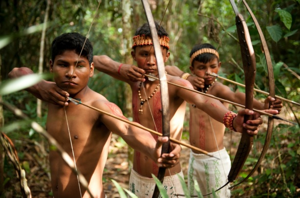 A população indígena na região do estado Santa Catarina