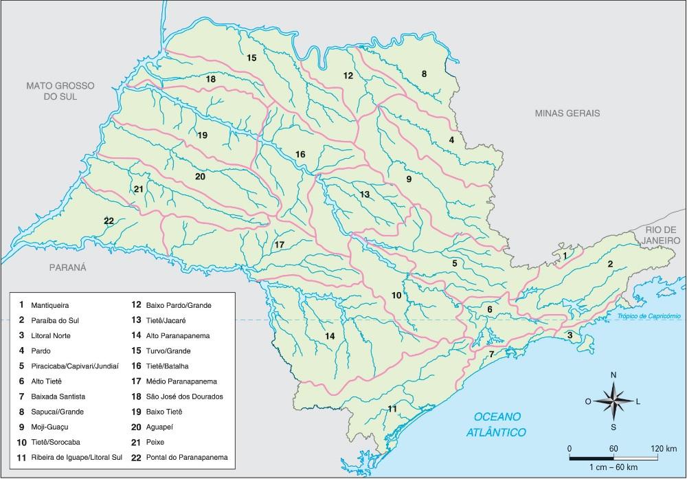 Bacia hidrográfica do estado de São Paulo